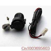Motorcycle Boat Car 12V Power Supply Cigarette Lighter Socket Plug +USB charger