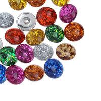 10PCs Resin Snap Buttons Fit Snap Bracelets Mixed DIY 18mm B31862