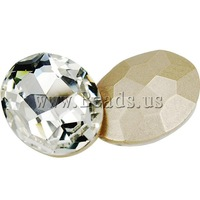 Free shipping!!!Crystal Cabochons,Famous, Oval, silver color plated, rivoli back, Crystal, 20x30mm, 100PCs/Bag, Sold By Bag