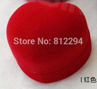 PB1206 jewelry box red 1 ring box gift box flocking box made in DongGuan of China