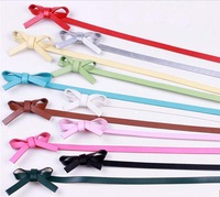 Free ship!20pc!Women Bow thin belt / PU lady belt /all-match waistband leather belt