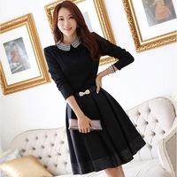 2014 winter dress for women plus size XXL women clothing ol slim elegant long-sleeve winter princess one-piece casual dress