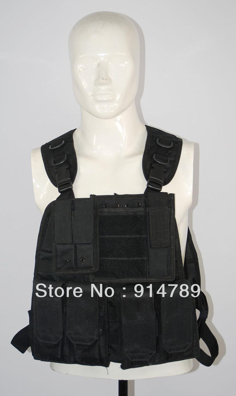 FIELD GEAR COMBAT LOAD TACTICAL BLACK VEST-32676(China (Mainland))
