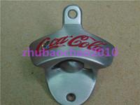 40 pcs  new co ca cola wall mount bottle opener open here Metal Die-cast Polished Neat Wall Mounted Bottle Opener  beer opener