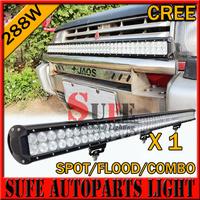 "40"" 288W CREE LED Light Bar Off-Road Driving SUV ATV 4WD 9-32V Spot/Flood/combo LED Work Light Bar Truck 4x4 High Power 240W Bar"