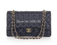 2014 2.55 cowhide C  lock plaid chain small CF  one shoulder handbag genuine leather female bags