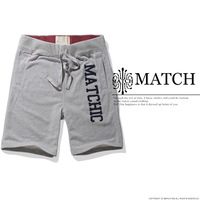 Matchstick Mens Simple Straight Bottom Casual Sweat shorts Color Gray Stretch 38 40 42 44 #W5006