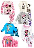 100% cotton baby hello kitty pijamas/2- piece set long-sleeved baby boy child children sleepwear suits children pajamas #02