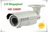HD 1080P 2.0 Megapixel POE Function with Varifocal Lens Secure Internet camera/High Focus CCTV IP web Camera