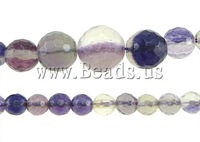 Free shipping!!!Fluorite Beads,Wedding, Round, 6-14mm, Hole:Approx 0.8-1.5mm, Length:17 Inch, 5Strands/Lot, Sold By Lot
