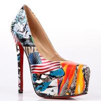 Latest designer women popular colorful high heel shoes sexy ladies elegant party formal pumps shoes hot sale CL1044