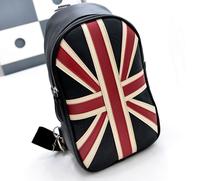 fashionable casual chest pack uk/us flag chest pack messenger bag small bag women's handbag women leather handbags