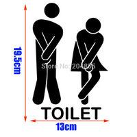 [Small size] Fashion The bathroom logo 1  Pattern PVC Bathroom or bedroom or  glass  Wall Sticker Home Decor(13*19.5CM