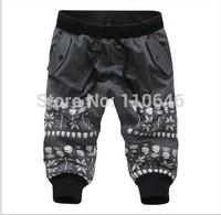 2014 hot sale summer fashion casual skull men harem shorts