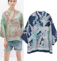 Retail 2014 women t shirt Z* Fashion design / plus size women clothing  punk sexy tops tee clothes T-shirt Six Designs MA089