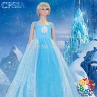 2014Frozen Dress Elsa&Anna Summer Dress For Girl short -sleeved Dress Child beauty pageant dress