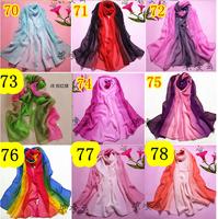 Chiffon Fashion  Flower Scarf, Stole, Shawl, wrap, Long size Cape for women / girl, Mini Order US$5, Many colors  #73