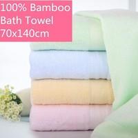 Bamboo Bath towel 140x70cm 12 Color Bamboo natural fiber shower bathroom towel for adult children baby Soft SPA Wrap Beach Wear