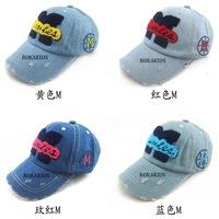 Hot 2014 Spring retail children's baseball cap baby hat  cowboy hat parent-child cap 4 color children cap unisex free shipping