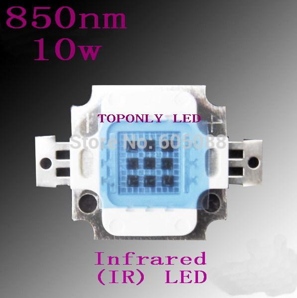 High Quality Epistar 10w ir diodes 850nm infrared led lighting,DC4.5-6.0v,1050mA, life>50,000hrs,32pcs/lot,DHL free shipping!(China (Mainland))