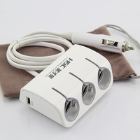Genuine YC401 excellence Star dual-core dual-core dual USB car cigarette lighter one in three 120W