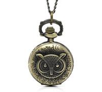 "New Arrival 1 Bronze Tone Necklace Chain Owl Quartz Pocket Watch 85cm(33-1/2"") B12982 (Over $100 Free Express)"