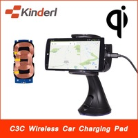 3-Coils Qi Wireless Car Charger Charging Transmitter Dock for Nokia Lumia 920 Samsung Note2/3 S3/4 Nexus 4/5