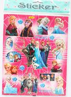 Free Shipping ! 50 Sheets  Frozen Me Kids Child Children Stickers Popular Cartoon Sticker Wholesale/ Kids DIY Toy