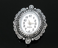 2 Silver Tone Oval Quartz Watches Faces 33x26mm (Over $100 Free Express)