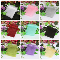 50pcs/lot 7*9cm size Drawable Organza packaging Wedding Favors Gift Bags&Pouches  Jewelry Packing Drawable  Optional-Color