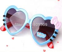Super Cute Children's Heart-shaped sunglasses Love Sunglasses for Boys and girls child Bow decoration Glasses