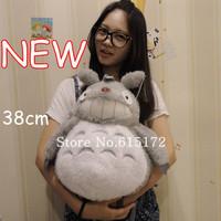 1pcs Free Shipping New 2014 38cm Japanese Character For Girl Kids Children Backpack Studio Ghibli My Neighbor Totoro School Bag