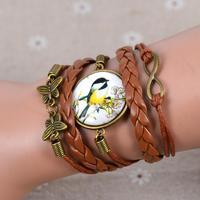 shamballa bracelet jewelry wholesale  8-word hand-woven IB662 birds spend time  bracelet for women