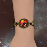 fashion retro bracelet wholesale trade 20mm sky cloud pattern time gem bracelet