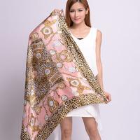 OVO!Hot Sale  fashion women summer spring Fashion 90x90cm Square Scarf High Quality Imitated Silk Satin Scarves Shawl Hijab