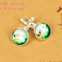 trade jewelry wholesale retro spread French hook IB674 time gem earrings butterfly