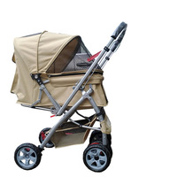 Dogger pet stroller dog cart 1h overstretches two-way thickening double layer dog car