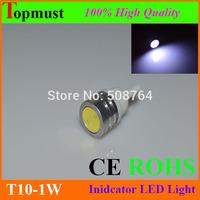 10pcs/lot High Power T10 W5W 184 2450 LED Door Light clearance Bulb 1W T10 led car lamp corner parking light