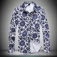2014 men's all-new luxury men's business shirt elegant fashion models wild color long sleeve shirt size men's large shipping