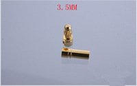 10pair/lot  3.5mm  Gold Bullet Banana Connector with male and female  plug for ESC Lipo RC battery Plugs