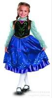 2014 Sale New Silk Vestidos Infantis Vestido Wholesale Baby Girls Dresses /kids Dress . Ice Frozen Elsa Princess 5pcs/lot A10075