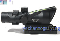 Military specifications ACOG 4x32 Riflescope (Green True Real Optical Fiber Works) -Free shipping