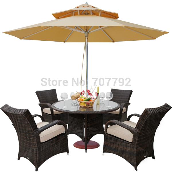 Ext rieur en osier meubles de patio promotion achetez des for Table exterieur osier
