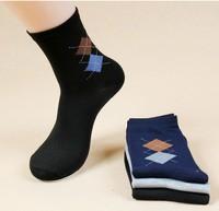 new 2014  design Diamond lattice Knee socks cotton socks manufacturer wholesale