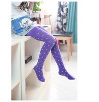 Baby girl child kids velvet candy color polka dot dance thin stockings baby clothing legging.