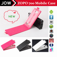Free shipping by post leather case for ZOPO ZP700 silk pattern flip cover with stand for zp 700 3  colors in stock