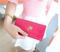 CB029 embossing flower women's long design wallet women's 2014 day clutch coin purse, brand wallet Wholesale,Christmas gift