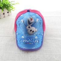 New Arrival! Frozen Carton Movie Adorable Olaf Baseball Caps Children Cap Summer Beret Hat 10PCS/Lot
