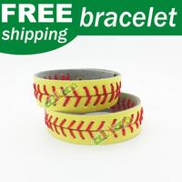 Leather Softball Seam Stitch Bracelets