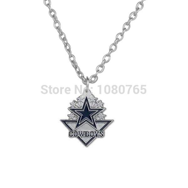 free shipping alloy sport logo team Dallas Cowboys pendant necklace(China (Mainland))